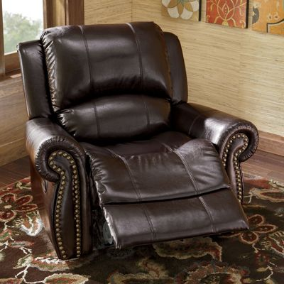 Nailhead Recliner From Midnight Velvet V839480
