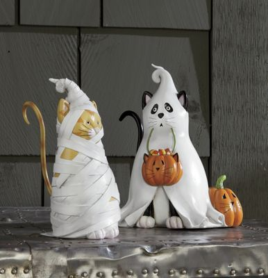 Costumed Cat Figurines