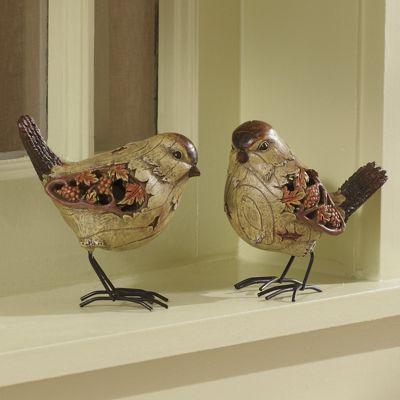 Set of 2 Autumn Chickadees