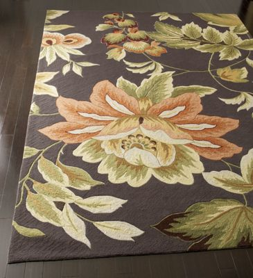 Hand-Hooked Floral Rug