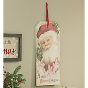 Sign Vintage Santa Gift Tag