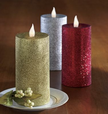 Flameless 'Glitter' Candles