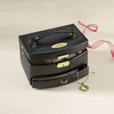 Leather Jewelry Box, Personalized