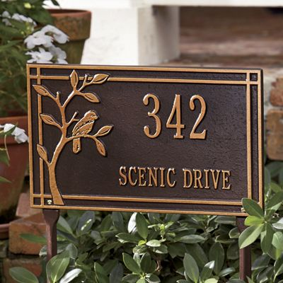 Personalized Bird Address Sign