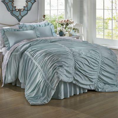 Ruched Comforter Set