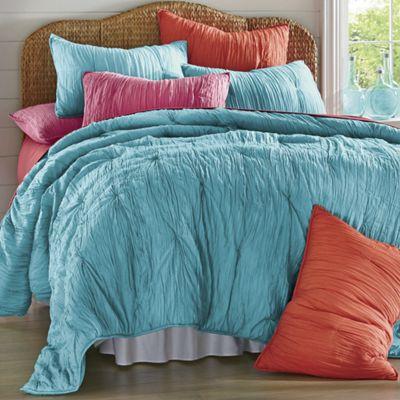 Hand-Stitched Cotton Voile Lightweight Comforter & Sham