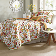 garden party oversized reversible quilt sham and pillows