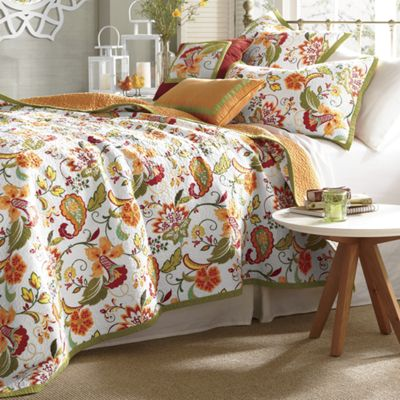 Garden Party Oversized/Reversible Quilt, Sham and Pillows