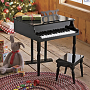 Childs Toy Baby Grand Piano And Bench