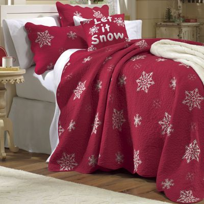 Snowflake Bedding And Snow Sham From Through The Country