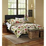Sunny Garden Oversized Quilt, Sham and Decorative Pillows