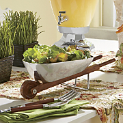 wheelbarrow salad bowl servers