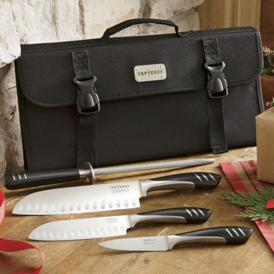 Top Chef<sup class='mark'> &trade;</sup> 5-Piece Cutlery Set and Case