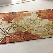 fiona hand hooked floral rug
