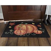 Hooked Pumpkin Mat