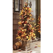 pre lit autumn harvest tree