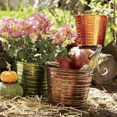 Set of 3 Bucket Planters