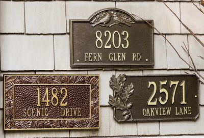 Personalized Address Signs