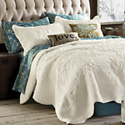 plush scalloped coverlet bedding sham
