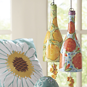 blooming rose bottle windchimes