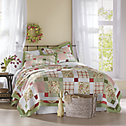 Darcy Oversized Cotton Quilt, Sham and Window Treatments
