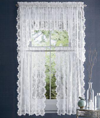 Petite Fleur Lace Window Treatments