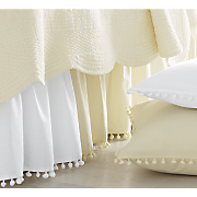 ball fringe bedskirt and sham pair