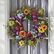classic summer wreath