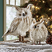 Set Of 2 Snowy Owls