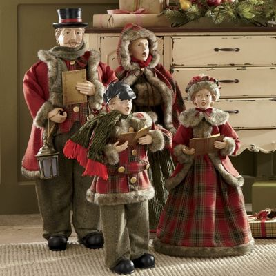 Set Of 4 Victorian Carolers From Through The Country Door NW41653
