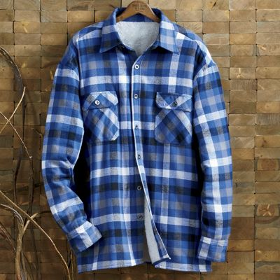 royal blue buffalo plaid shirt from through the country