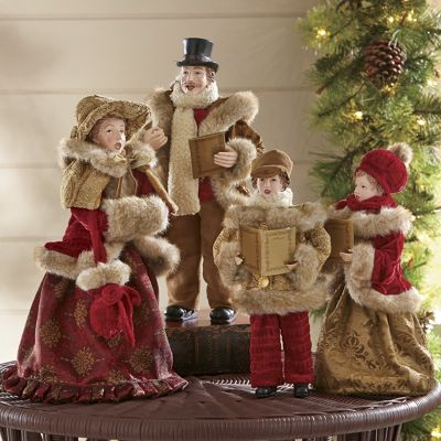 Set of 4 Family Christmas Carolers