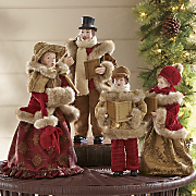 set of 4 family christmas carolers