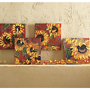 Set of 4 Sunflower...