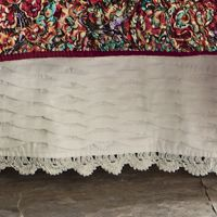 Pleated Crocheted Bedskirt