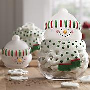 Snowman Snack Jar