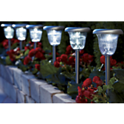 set of 6 solar pathway lights