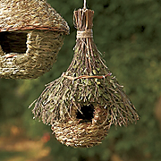 natural leafy chalet birdhouse