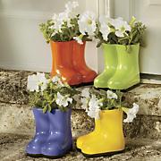 garden boot planter