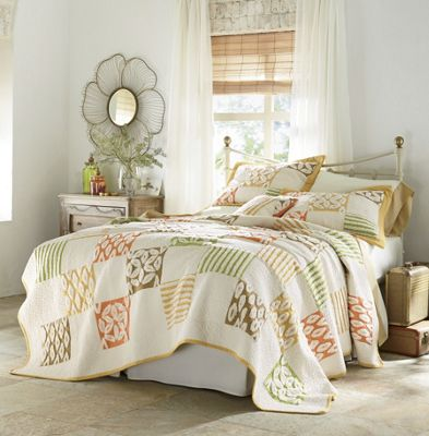 Harlequin Oversized Quilt, Sham and Decorative Pillow