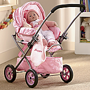 doll with buggy and personalized blanket