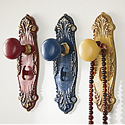set of 3 doorknob hooks