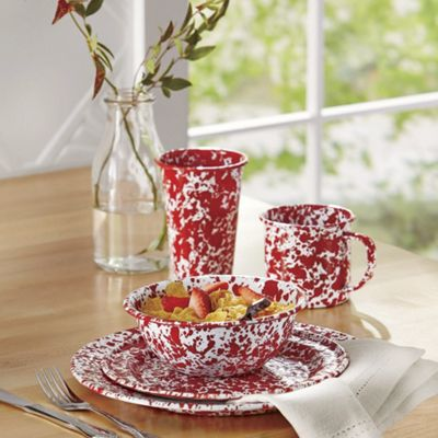 Marbled Dinnerware and Coffee Pot