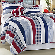nautical stripe oversized reversible quilt