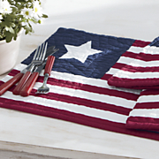 set of 4 americana place mats