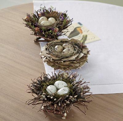 Set of 3 Birds' Nests