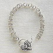 sterling silver keepsake heart bracelet