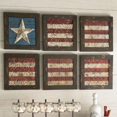 6 piece flag wall art