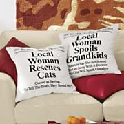news worthy pillow