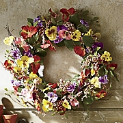 pansy berry wreath